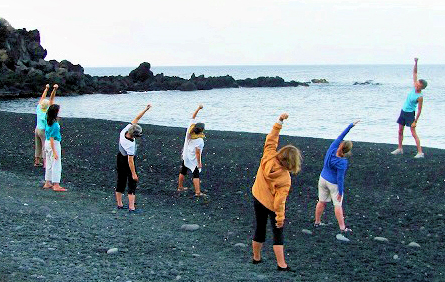 Energization at the beach. These exercises are fun and addictive!