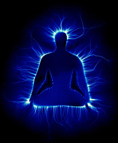 Kirlian photograph of a meditator.