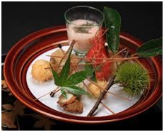 Japanese Kaiseki, a multi-course dinner composed of